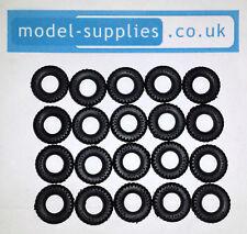 Matchbox King Size Reproduction Hard Black Plastic Tyres 16mm O/D K1, K5, K7 etc