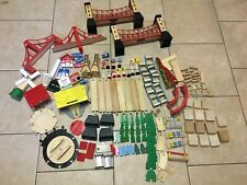 Giant Brio Vintage Wooden Track and Accessory lot. Thomas Compatible