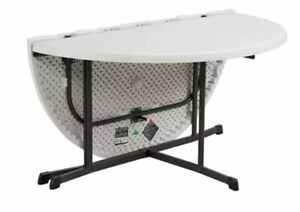 """Lifetime 60"""" Fold-In-Half Round Commercial Grade Table s"""