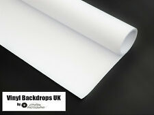 1m x 2m White Vinyl Background - Rolled Matte Smooth Photography Studio Backdrop