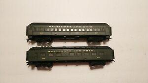 Life Like HO Train Lot of 2 Baltimore and Ohio Passenger Cars RTR