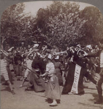 More details for japan stereoview. tokyo 1896. japanese boys learning to fight samurai style ??