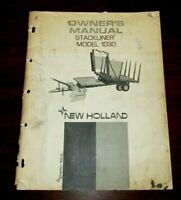 New Holland 1030 Stackliner Bale Wagon Operator's Owners Book Guide Manual, Vtg
