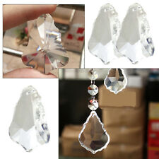 Prism Maple Leaf Clear Crystal Hanging Drops Pendant Chandelier Lamp Part Decor