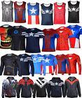 Various Men Casual Comics Superhero Vest T-Shirt Costume Jersey Tee Tops Hoodies