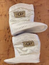 baby Boots White With UGG Australia Logo Preowned. No Box