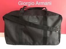 GIORGIO ARMANI Weekend Travel Gym HOLDALL CABIN Bag Black BRAND NEW!🆕