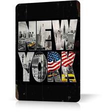 Metal Tin Sing NEW YORK MANHATTAN SOUVENIR Classic Poster Decor Retro Vintage