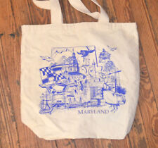 Rare BALTIMORE MARYLAND Canvas TOTE BAG Reusable Shopping VTG Inner Harbor