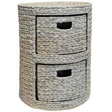 deux Table Chevet à tiroirs / de bout / Coffre Rangement - blanchi kys-24388-wh