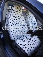 i - TO FIT A MINI CLUBMAN CAR, S/ COVERS, 2 FRONTS, DALMATIAN FAUX FUR