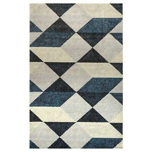 Olivo.Shop, Art Geometric blue tappeto arredo moderno per salotto, studio camera