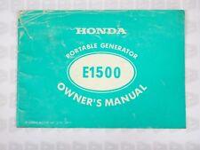 Honda E1500 Portable Generator Owner's Manual 1977