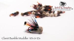 IFS Claret bumble Muddlers x 3 size 10
