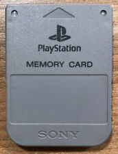 PS1 Memory Card Original Sony Playstation Grau SCPH-1020 Speicherkarte