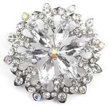 Clear Fine Austrian Rhinestone Crystal Star Bridal Wedding Brooch Pin