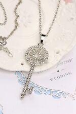 Hot Fashion Silver Cute Alice in Wonderland Key Costume Jewellery Necklaces Gem