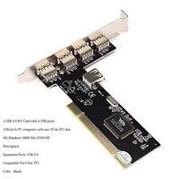 USB 2.0 5 PORT (4+1) PCI HUB CARD HIGH SPEED ADAPTER 480MB for PC Windows AB
