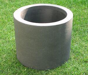 Pflanzkübel Blumenkübel rollbar  39x33 cm  anthrazit Kunststoff  modern Lounge