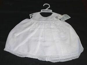 NWT Feltman Bros Brothers White Girls Slip 6 M & 9 M Baby Girls #34703