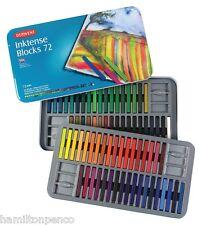 DERWENT INKTENSE BLOCKS TIN of 72 pure, vibrant, water-soluble ink blocks