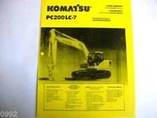 Komatsu Pc200Lc-7 Hydraulic Excavator Brochure