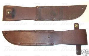 Ka-Bar KaBar Knives Brown Leather USMC Sheath ONLY 1217S NEW