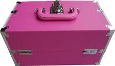 PINK BEAUTY MAKEUP BOX NAIL COSMETICS VANITY CASE SALON