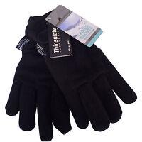 Damen Thinsulate Fleece handschuhe schwarz