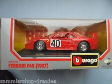26365 Burago Ferrari F40 1987 1/24 rot 40 Italien OK von 1989 cod. 0532 boxed