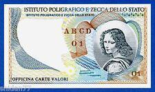 """Italy IPZS Istituto Poligrafico """"Volto Femminile"""" Specimen Test Note Unc"""