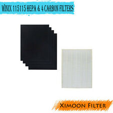 2 Pack of 4 Carbon For Winix 115115 5000 5300 6300+ True Hepa Filter Replacement
