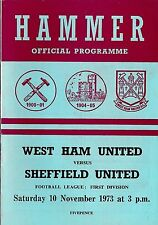 Teams S-Z Division 1 Sheffield United Football Programmes