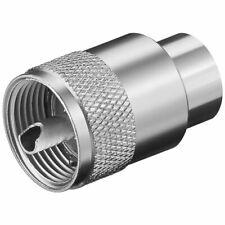 UHF PL259 CONNECTOR for 10mm CB Radio Antenna COAX Male Plug