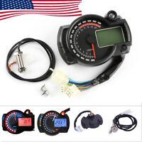15000rpm Motorcycle Speedometer Gauge Universal LCD Digit Tachometer Odometer