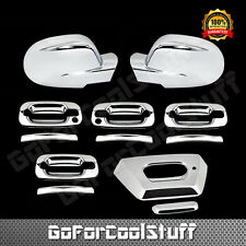 For Chevy Avalanche 02-06 Chrome Full Mirror, Door Handle & Tailgate Cover (Pkh)