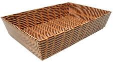 10 X Gift Basket Hamper Printed Cardboard Tray - Wicker Basket Design Medium 30 X 20 X 6cm High