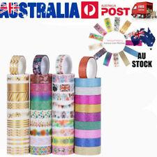 Nuolux 40x BULK Lot Glitter Washi Tape Scrapbook Craft DIY Paper Sticker 15mm AU