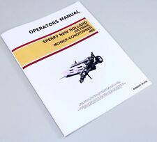 Sperry New Holland 488 Haybine Mower Conditioner Owners Operators Manual