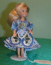 Blue and Green Medallion Print Dress for Chelsea Barbie Doll CHMS14