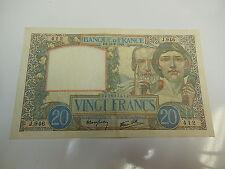 BILLETE / BANKNOTE DE FRANCIA BILLET DE 20 FRANCS SCIENCE ET TRAVAIL DU 22.08.19