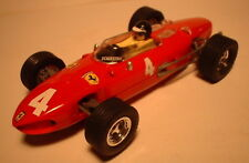 qq SCX SPAIN SCALEXTRIC ALTAYA COCHES MITICOS FERRARI 156  F-1 No 4 RED LTED. ED