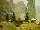 H0 Diorama HO 1:87 Zelt Camping Wald Wiese Brücke EINZELSTÜCK