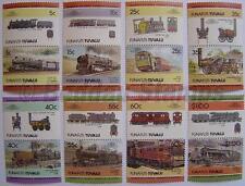 1984 FUNAFUTI Set #2 Train Locomotive Railway Stamps (Leaders of the World)