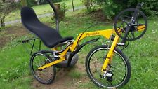 "Recumbent Bicycle Bike Ligfiets Flevobike Flevo-Bike 20 "" Brake Disc Yellow"