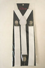 Men's Clip-on Elastic Y-Shape Adjustable White Braces Suspenders