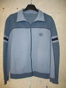 Veste TREVOIS vintage années 80 jacket jacke oldschool bleu / gris M