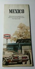 VINTAGE TEXACO SERVICE STATION 1971 EDITION  ROAD MAP OF MEXICO