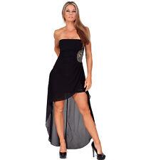 InstantFigure Strapless Short Dress w/ Long Chiffon Overlay