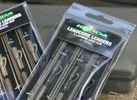 ESP LEADCORE LEADERS LEAD CLIP RIGS 1.5 METRES WEEDY GREEN ESP LEADCORE ESP